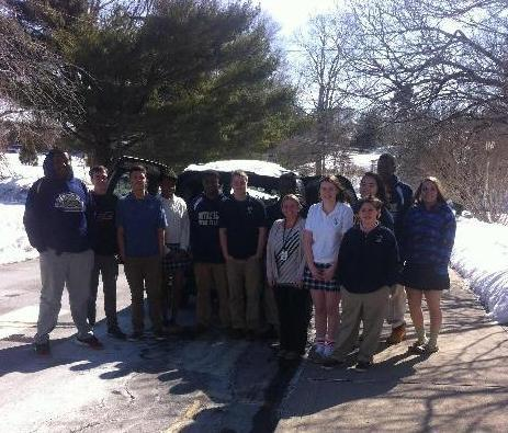 Notre Dame Students help out in the cold
